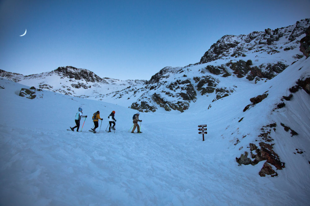 Snowshoeing at Vallnord