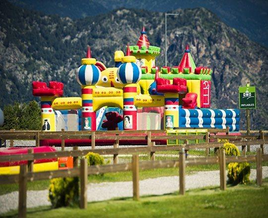 Inflatable castles at Naturlandia