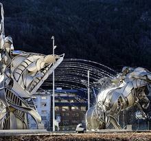 Esculturas y fuentes en Escaldes-Engordany