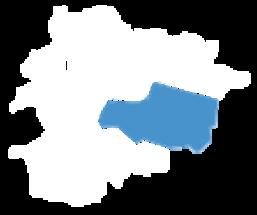 Carte d'Andorre où Encamp est sélectionnée.